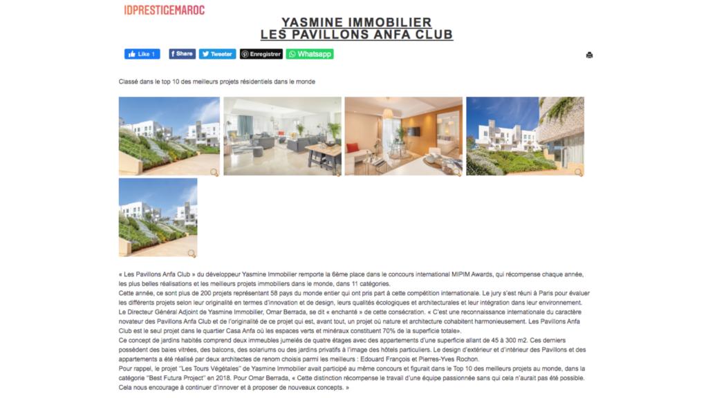 LPAC classé 6ème meilleur projet résidentiel dans le monde