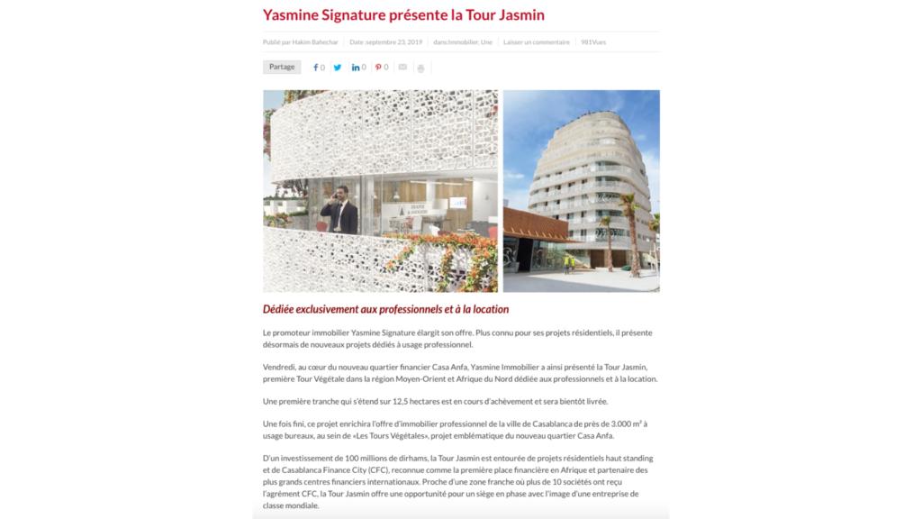 Tour Jasmin