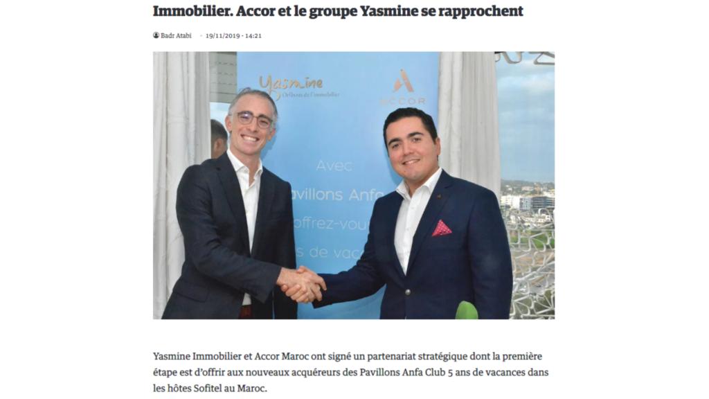 Partenariat Yasmine et ACCOR
